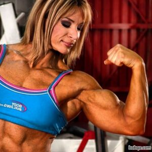 hottest babe with muscle body and muscle arms pic from flickr