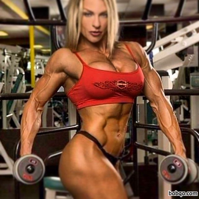 beautiful lady with muscular body and toned arms photo from facebook