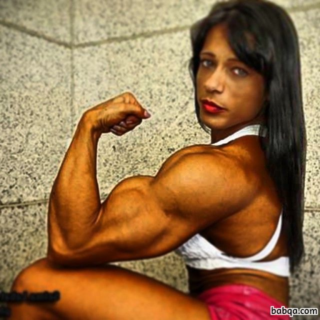 perfect chick with fitness body and muscle legs image from linkedin