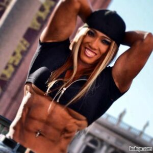 hot female bodybuilder with muscle body and muscle arms post from facebook