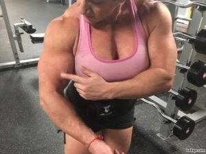 cute woman with muscle body and muscle bottom picture from tumblr