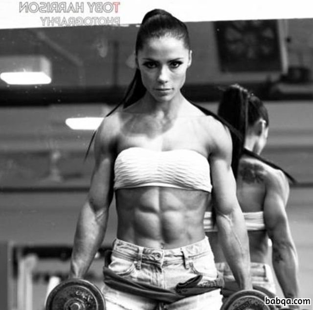 cute woman with muscle body and muscle bottom image from tumblr