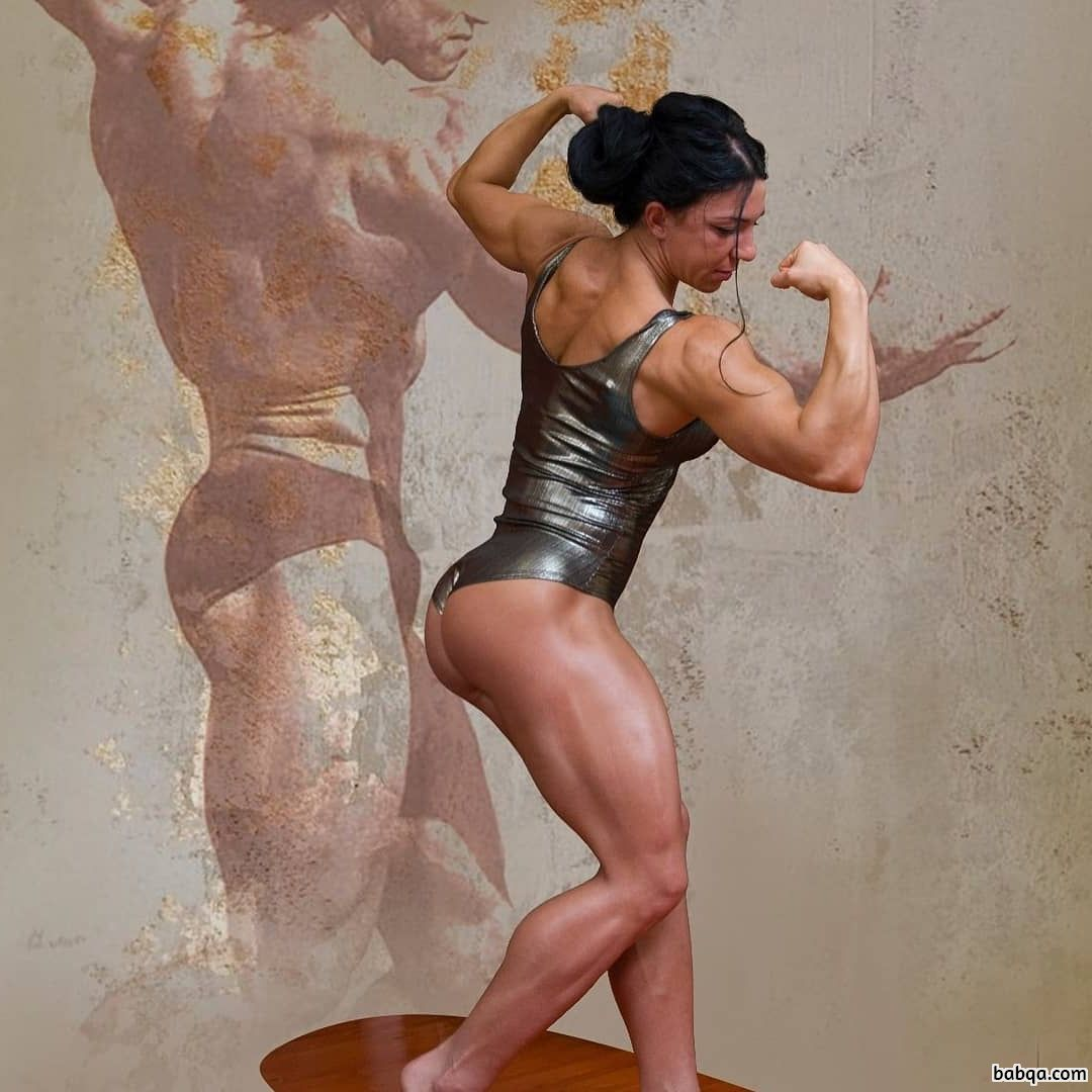 sexy woman with muscle body and muscle biceps photo from g+