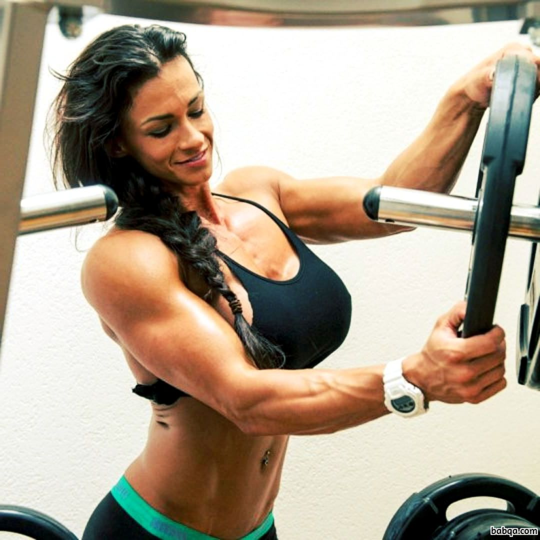 beautiful chick with muscle body and toned arms pic from linkedin
