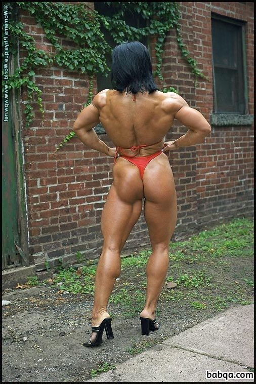 awesome babe with strong body and muscle legs image from facebook