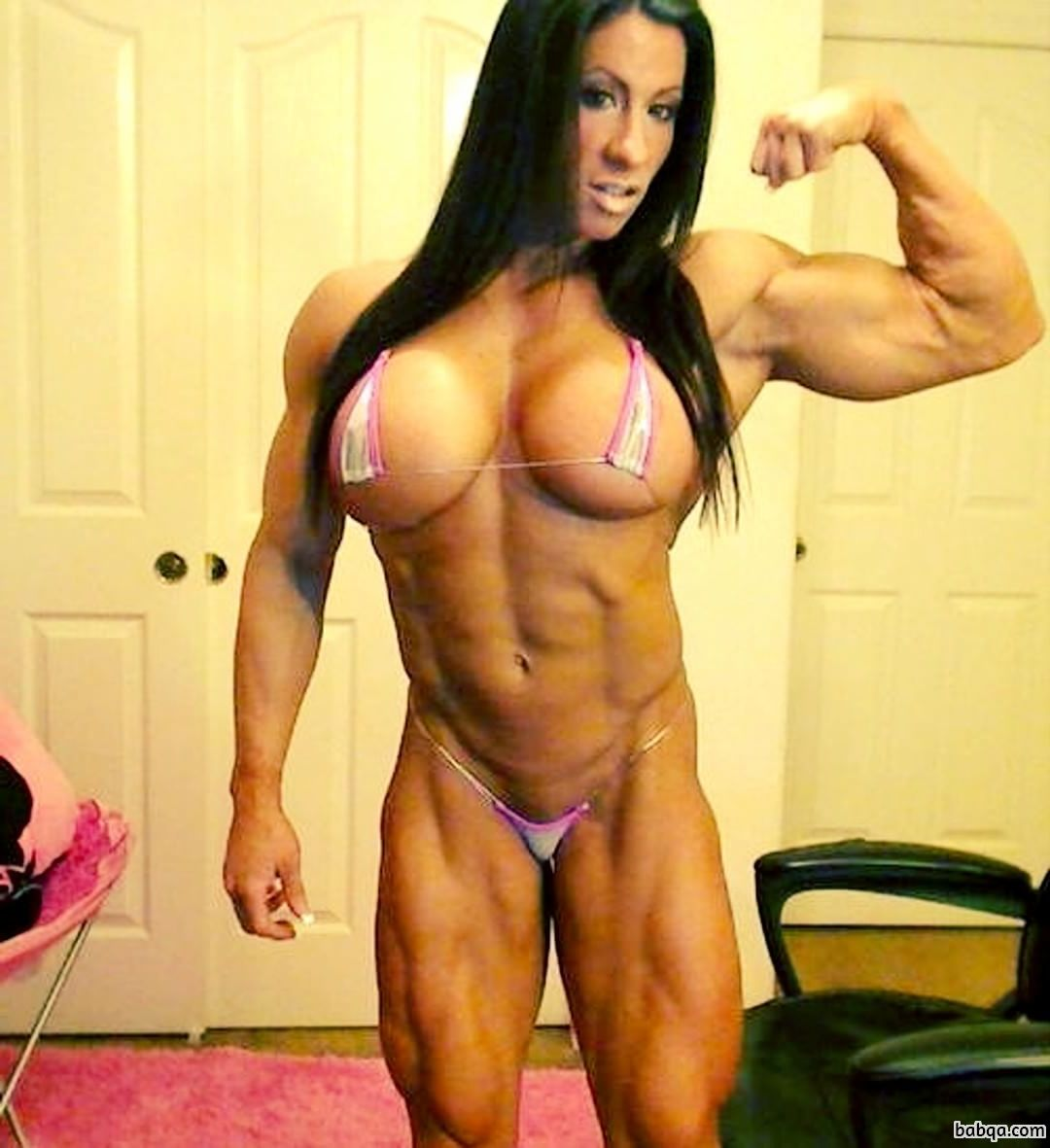 spicy lady with strong body and toned arms picture from linkedin