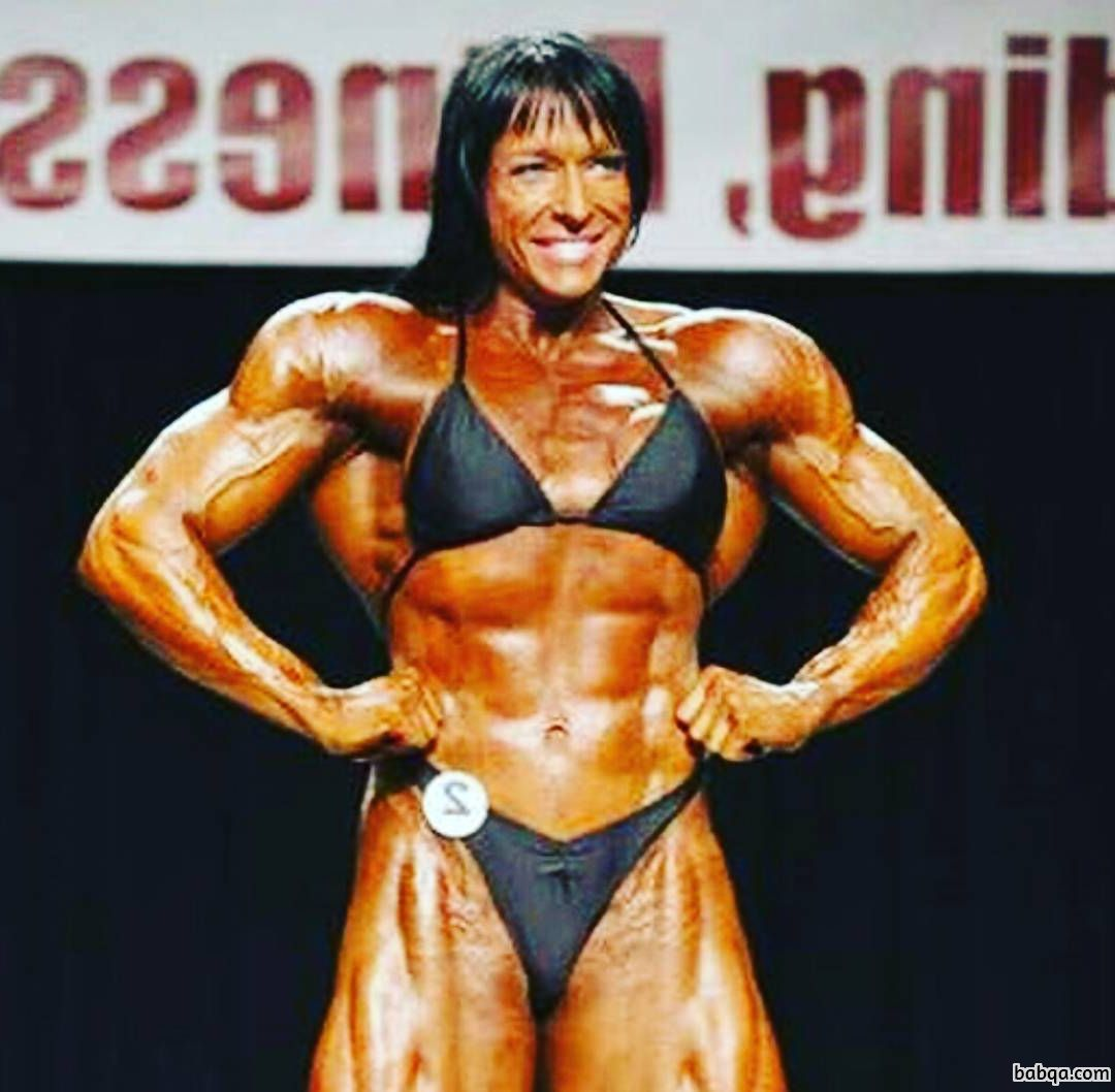 perfect lady with muscular body and muscle bottom photo from g+