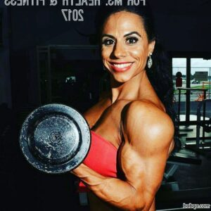 sexy female with strong body and toned arms repost from reddit