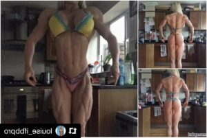 hot woman with strong body and toned arms repost from tumblr