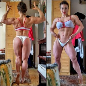 awesome female bodybuilder with muscular body and toned booty photo from g+