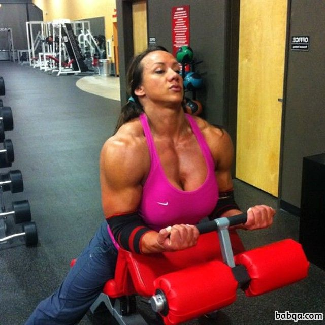 hottest female with muscle body and muscle arms pic from tumblr