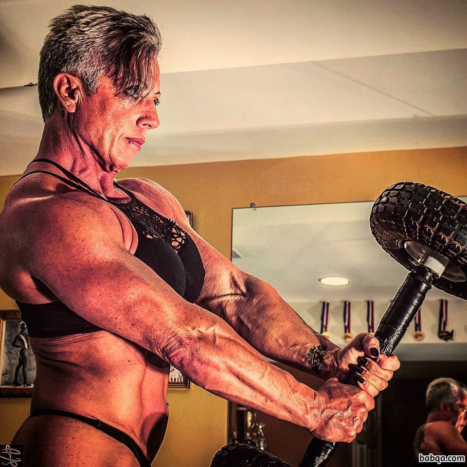 hottest lady with muscular body and toned arms post from linkedin