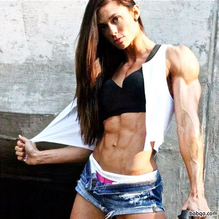 spicy chick with fitness body and muscle biceps photo from flickr