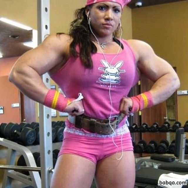 cute female with muscle body and toned biceps picture from flickr