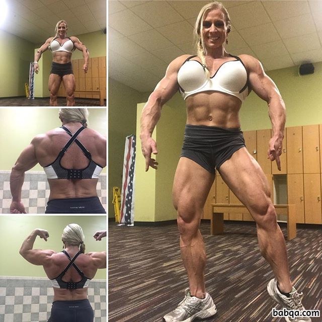 hottest female bodybuilder with strong body and muscle booty repost from g+