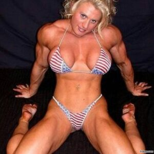 sexy female bodybuilder with fitness body and toned booty picture from facebook