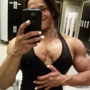 beautiful lady with muscle body and toned biceps pic from facebook