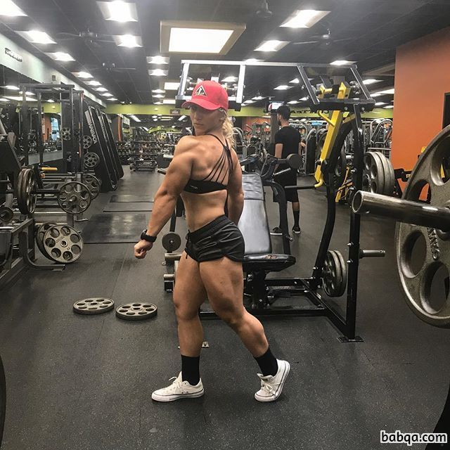 sexy lady with muscular body and muscle ass post from facebook