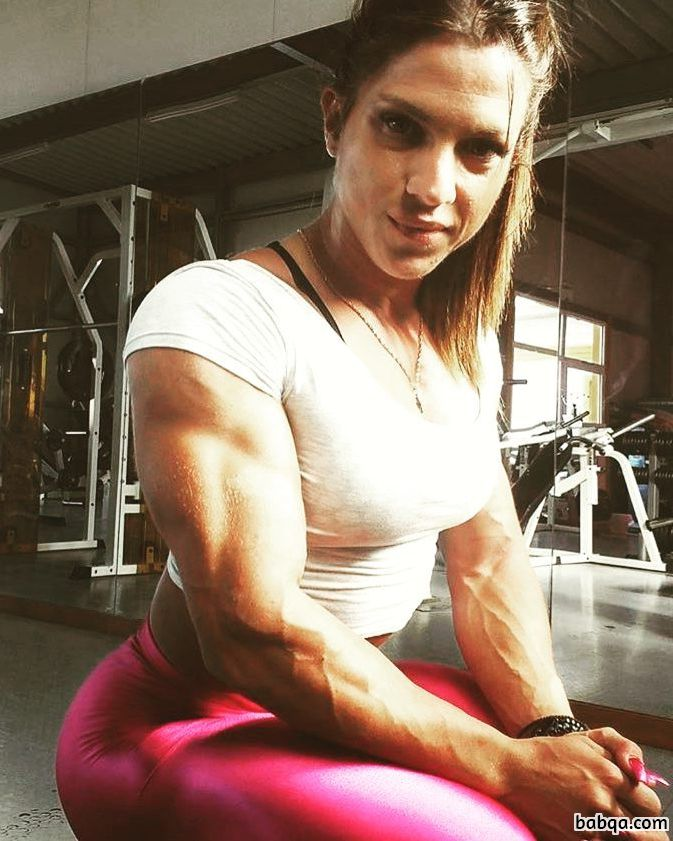 spicy female bodybuilder with muscle body and muscle booty post from g+