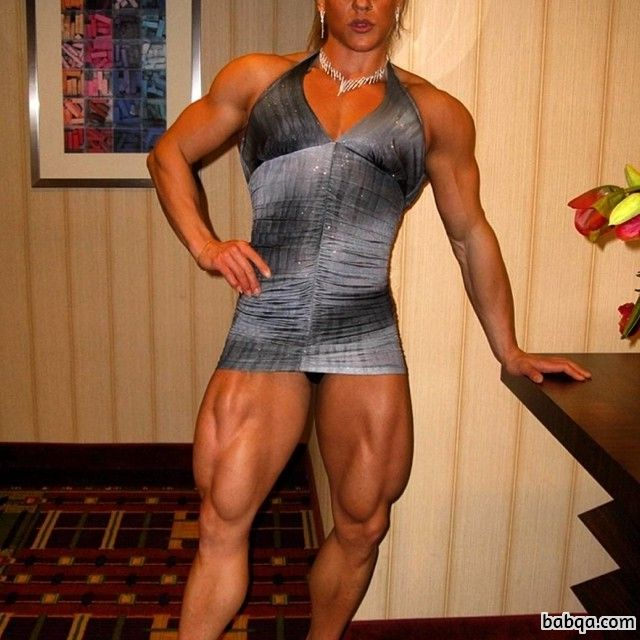 hot female with fitness body and muscle biceps photo from linkedin