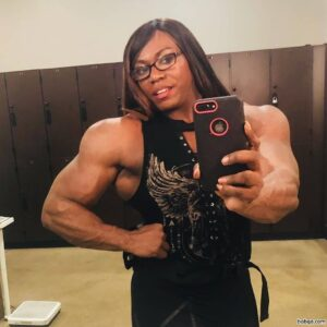 spicy female with strong body and muscle biceps repost from reddit