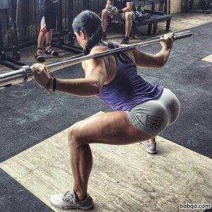 perfect female bodybuilder with muscular body and toned booty pic from linkedin