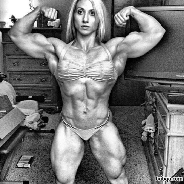sexy lady with strong body and toned arms picture from g+