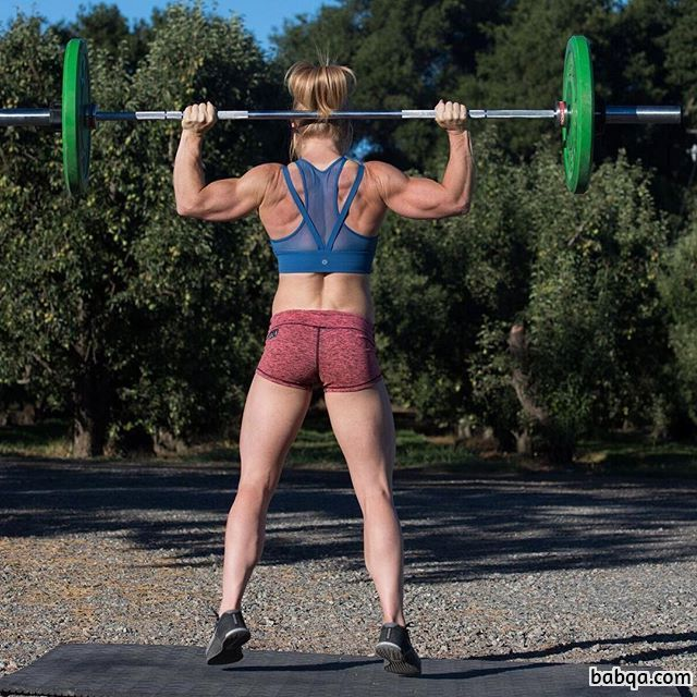 cute lady with muscular body and muscle biceps pic from facebook