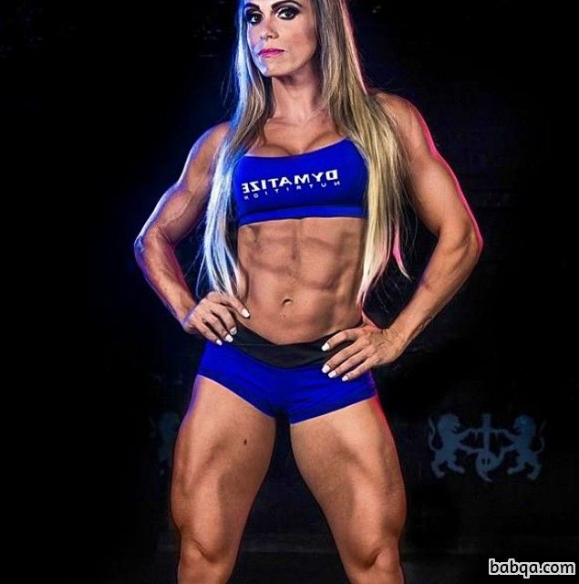 hot female with muscular body and muscle biceps image from tumblr
