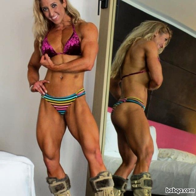 hot lady with muscle body and muscle ass pic from facebook