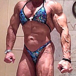 spicy female bodybuilder with muscle body and toned bottom repost from g+