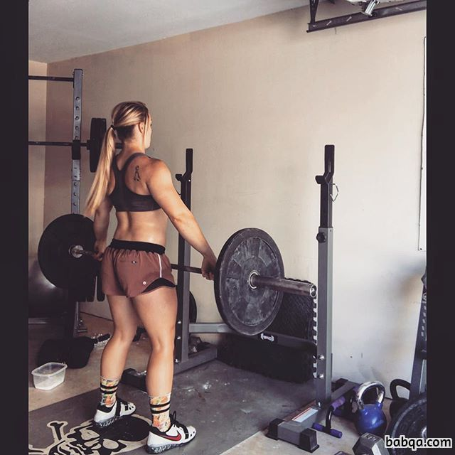 spicy female with fitness body and toned arms post from facebook