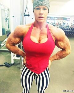 hot woman with strong body and muscle ass post from linkedin