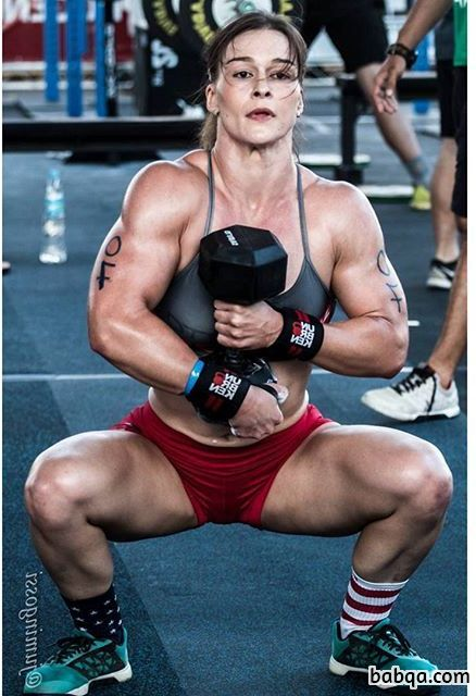 awesome woman with muscular body and muscle bottom picture from g+