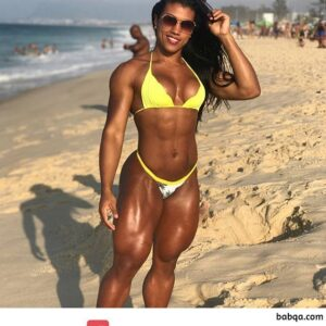 hot lady with muscular body and muscle ass post from facebook
