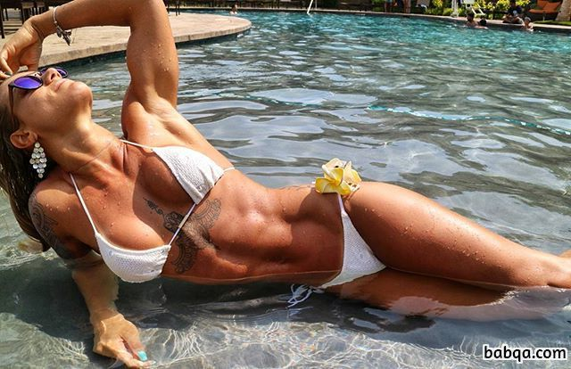 hottest girl with fitness body and toned biceps repost from g+