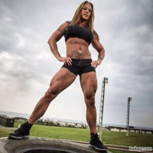hottest female bodybuilder with fitness body and toned biceps picture from reddit