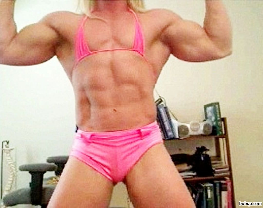 beautiful female bodybuilder with muscular body and toned biceps photo from facebook
