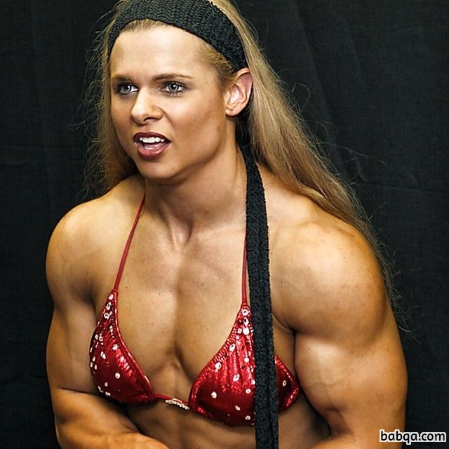 perfect chick with muscle body and muscle biceps photo from flickr