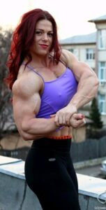 awesome girl with strong body and muscle biceps photo from tumblr