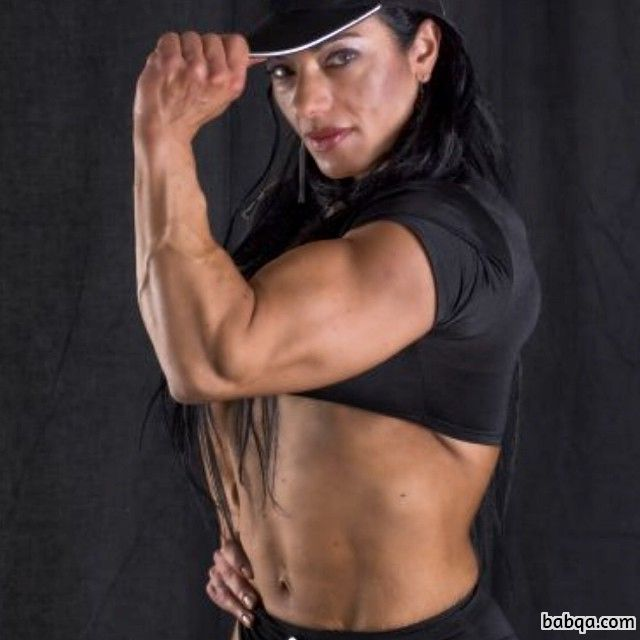 beautiful female bodybuilder with fitness body and muscle arms photo from facebook