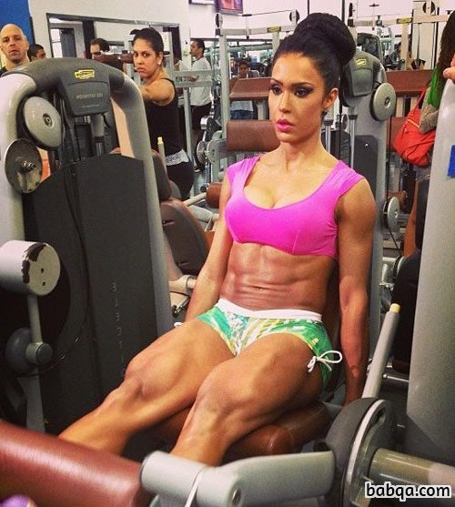 cute female bodybuilder with muscular body and muscle booty post from flickr