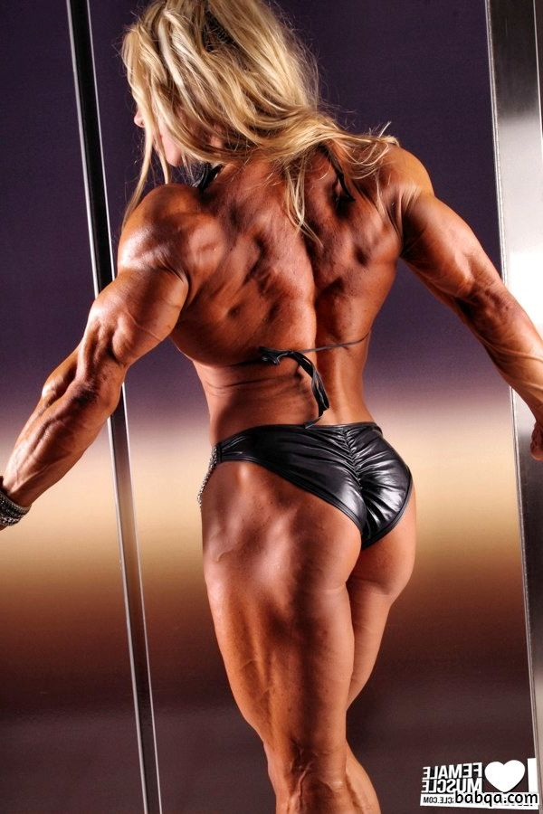 hot lady with muscular body and toned legs pic from flickr