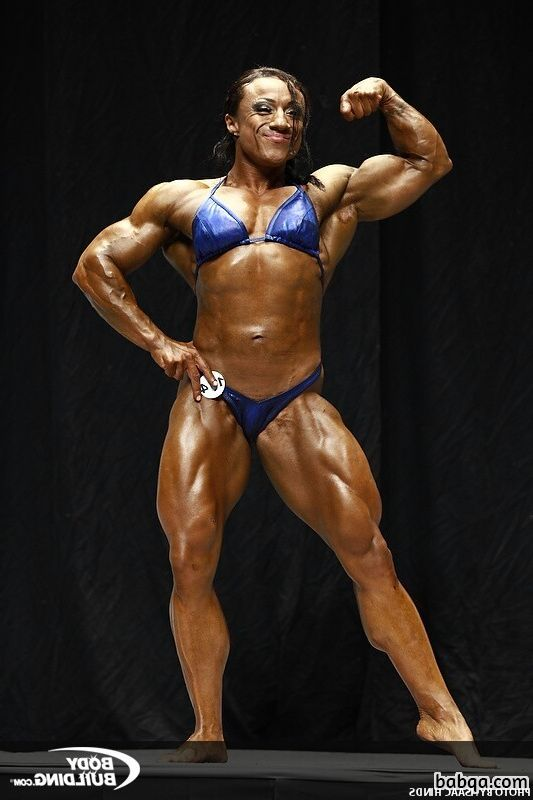 awesome babe with muscle body and toned legs repost from flickr
