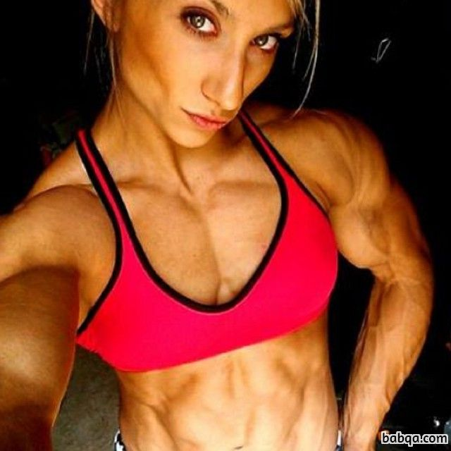 beautiful chick with strong body and toned biceps post from flickr