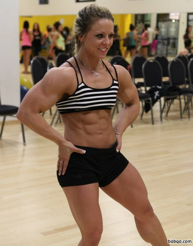 cute female bodybuilder with muscular body and toned legs picture from flickr