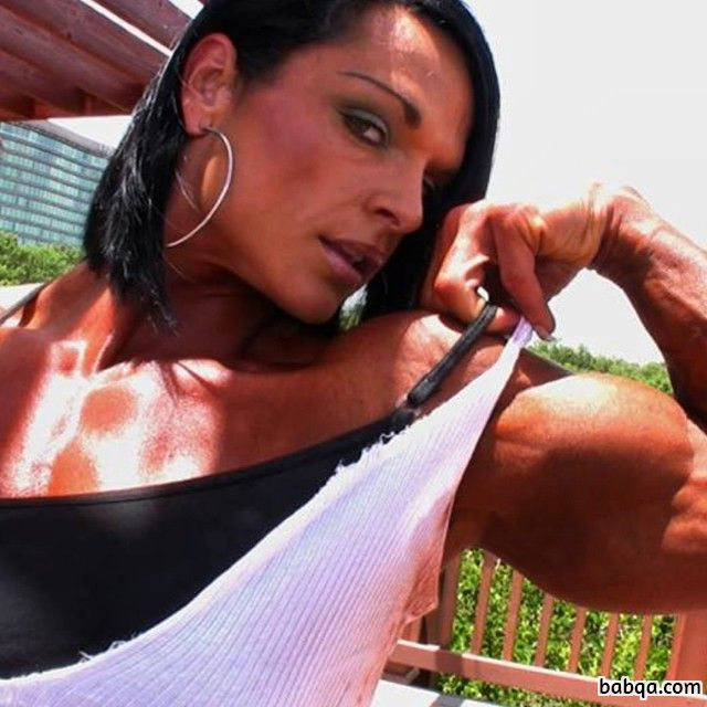 hottest girl with strong body and muscle arms post from instagram