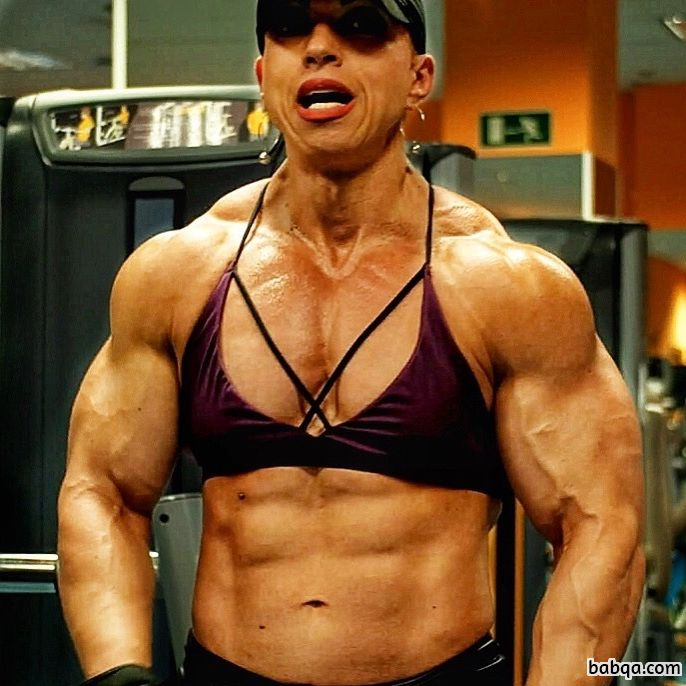 cute female with muscular body and toned biceps image from linkedin