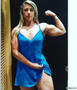 perfect babe with strong body and muscle arms photo from linkedin