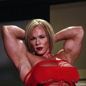 hottest woman with muscular body and muscle biceps image from linkedin